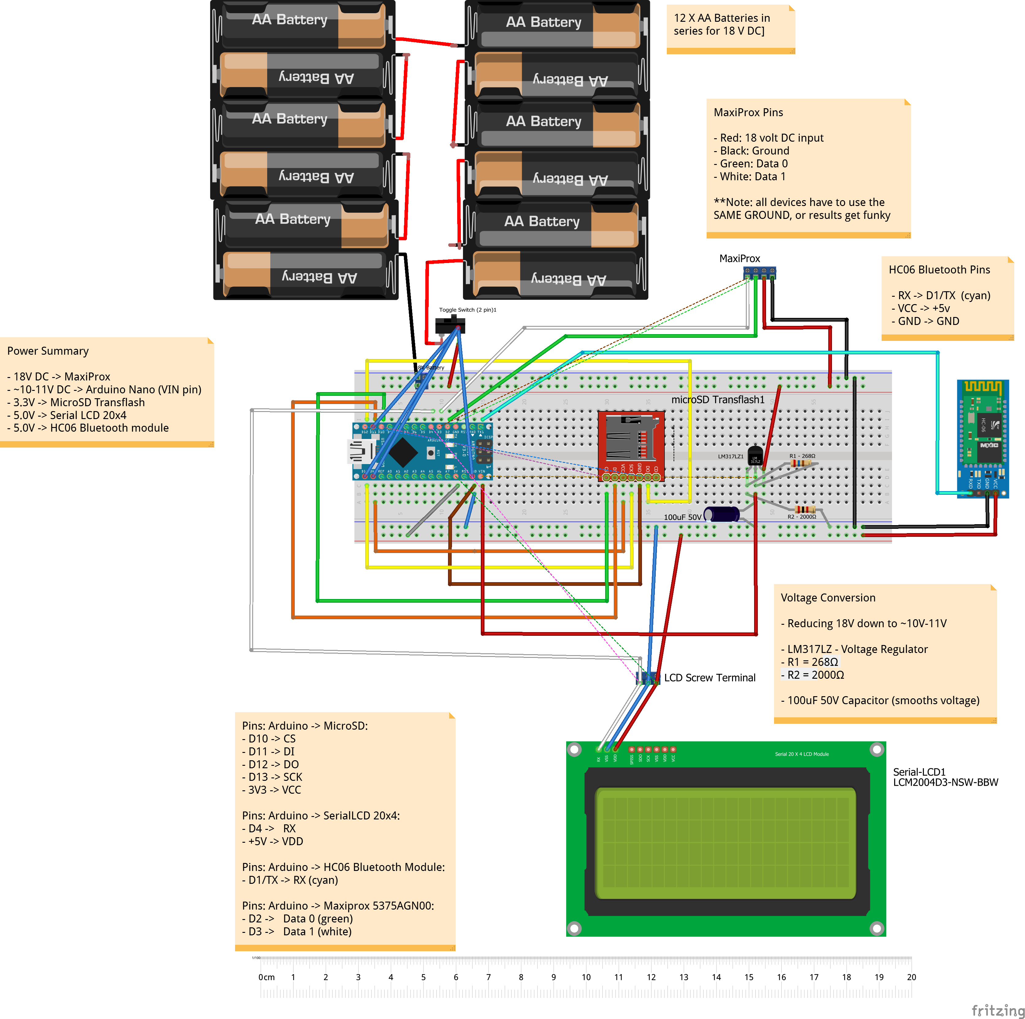 Tastic-modifications-breadboard-layout